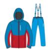 Nordski Montana Premium RUS теплый лыжный костюм мужской Blue-Red - 3