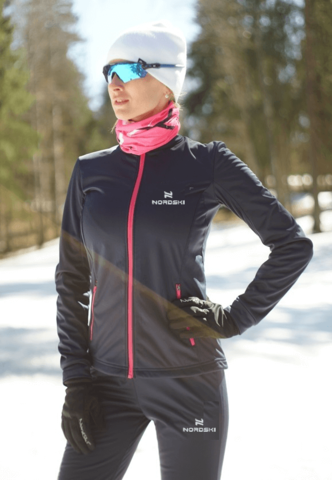 Nordski Jr Motion детская лыжная куртка blueberry-pink