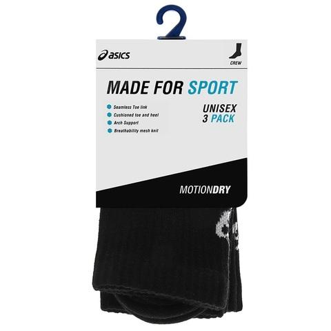 Беговые носки Asics Crew Sock 3PPK черные