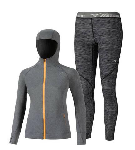 Mizuno Active Impulse костюм для бега женский grey
