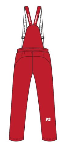 Nordski Junior утепленные лыжные брюки детские red