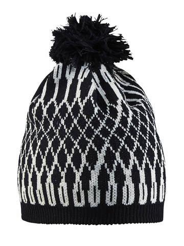 Лыжная шапка Craft Snowflake черно-белая