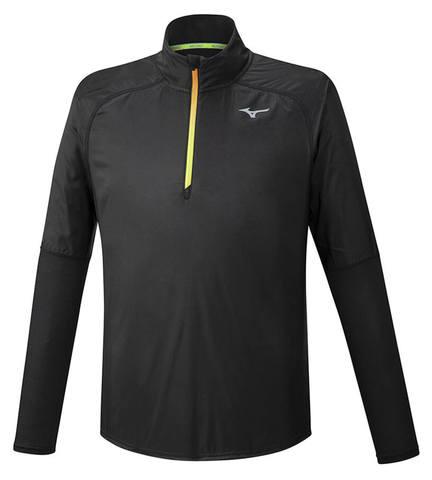 Mizuno Hybrid Dry Aeroflow Ls Hz рубашка для бега мужская черная