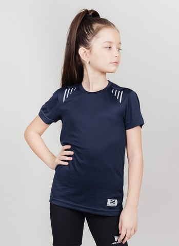 Nordski Jr Run футболка для бега детская dress blue