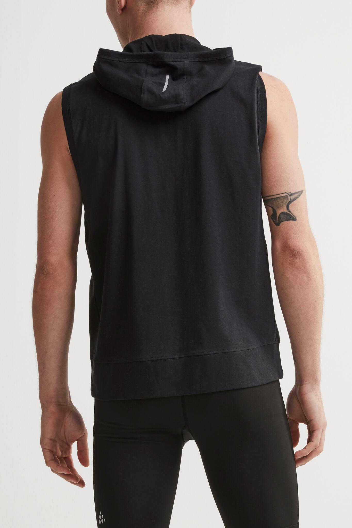 Craft Deft 2.0 толстовка с капюшоном мужская без рукавов black - 3