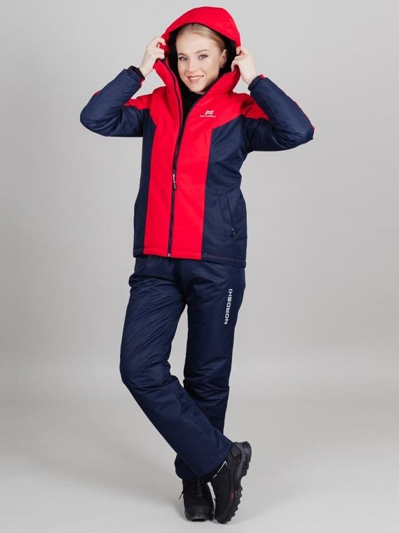 Nordski Base теплая куртка женская red - 2