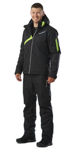 Nordski Premium мужской лыжный костюм черный-лайм