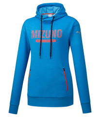 Mizuno Heritage Hoody толстовка женская синяя