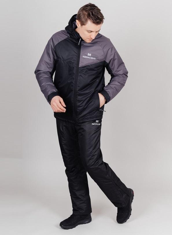 Nordski Premium Sport теплый лыжный костюм мужской grey