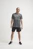Craft Eaze SS Graghic футболка спортивная мужская grey - 4