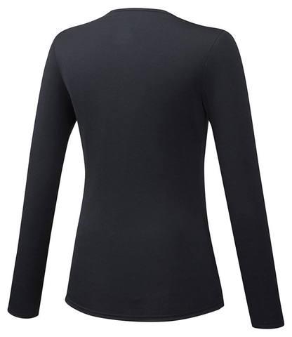 Mizuno Bt Under V Neck Ls термобелье рубашка женская черная
