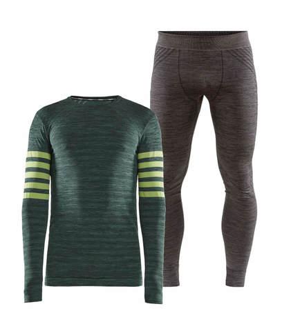 Craft Fuseknit Comfort Blocked комплект термобелья мужской green-grey