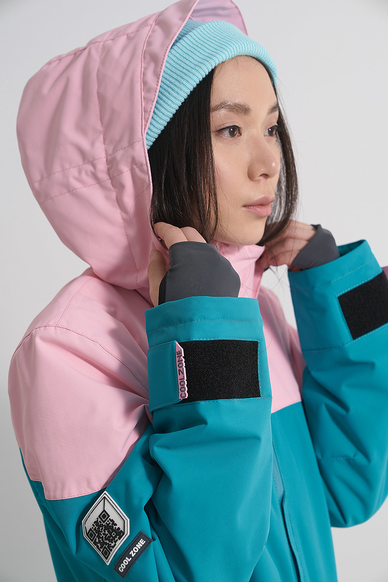 Cool Zone VIBE комбинезон для сноуборда женский св.розовый-волна - 7