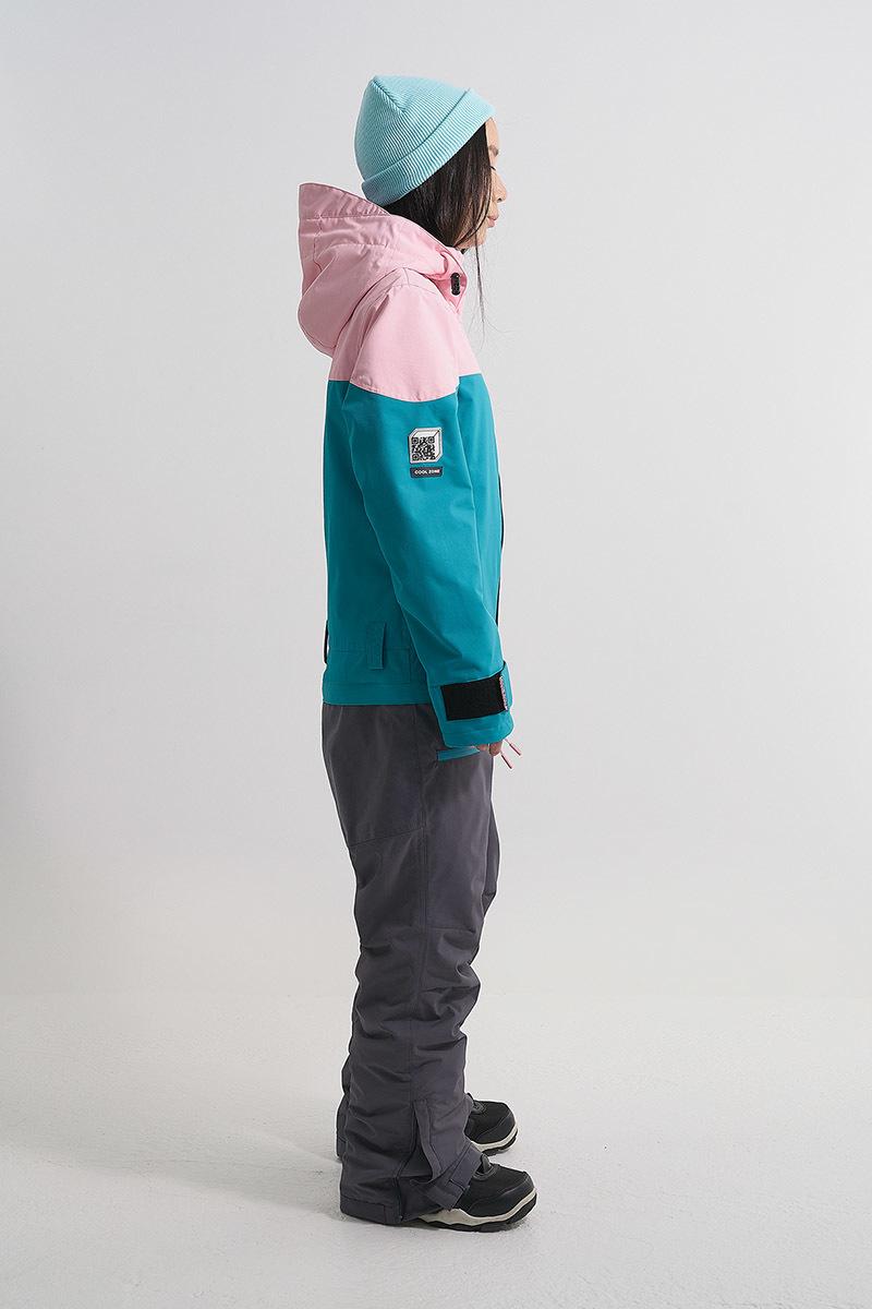 Cool Zone VIBE комбинезон для сноуборда женский св.розовый-волна - 3
