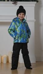 Nordski City Kids детский теплый костюм синий-лайм-черный