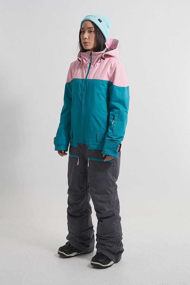 Cool Zone VIBE комбинезон для сноуборда женский св.розовый-волна - 6
