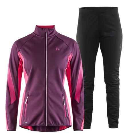 Craft Sharp SoftShell Storm лыжный костюм женский purple
