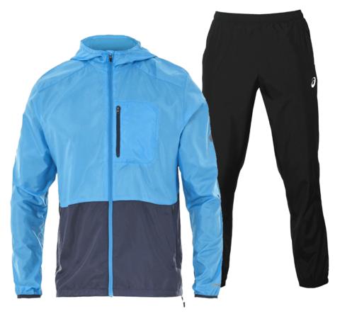 Asics Packable Silver Woven костюм для бега мужской синий