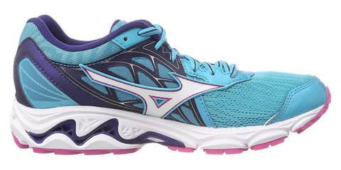 Mizuno Wave Inspire 14 кроссовки для бега женские голубые-фиолетовые