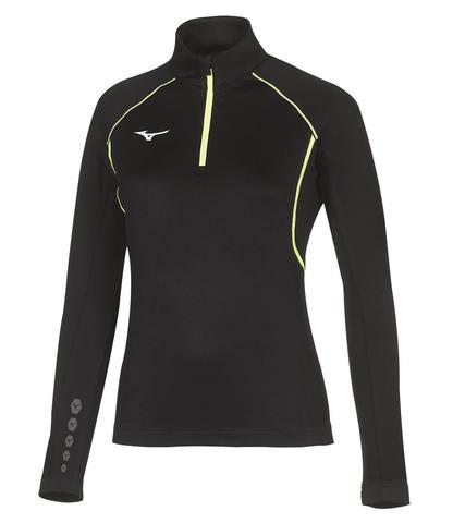 Беговая рубашка женская Mizuno Premium Jpn Warmer черная