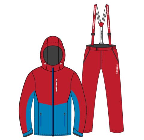 Nordski Montana Premium RUS прогулочный лыжный костюм мужской Red
