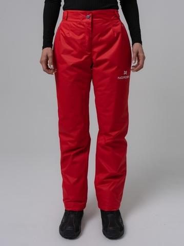 Nordski Light утепленные ветрозащитные брюки женские красные