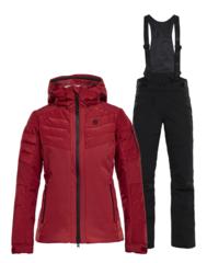 Горнолыжный костюм женский 8848 Altitude Maximilia Poppy red-black