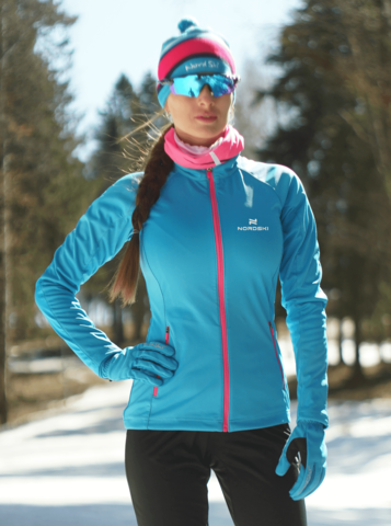 Nordski Elite разминочная куртка женская синяя