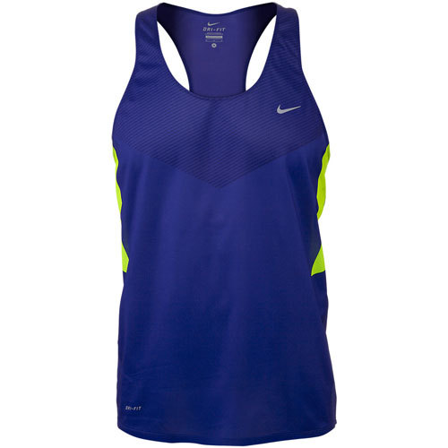 Майка л/а Nike Distance Singlet синяя - 3
