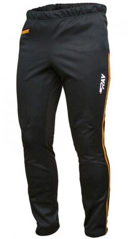 Ray WS Active лыжные разминочные брюки мужские black-gold