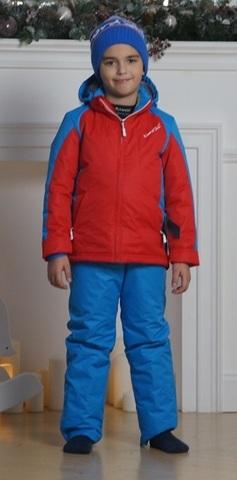 Nordski National Kids детский прогулочный костюм  красный