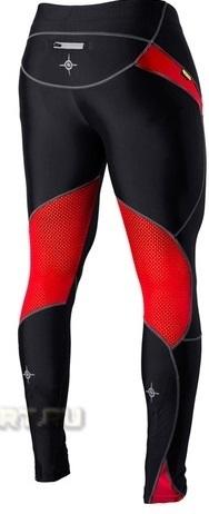 Лосины Noname Long o-tights 12 черно-красные