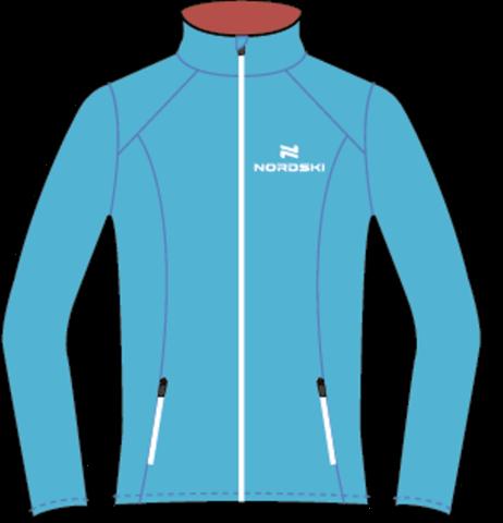 Nordski Premium женская ветровка для бега голубая