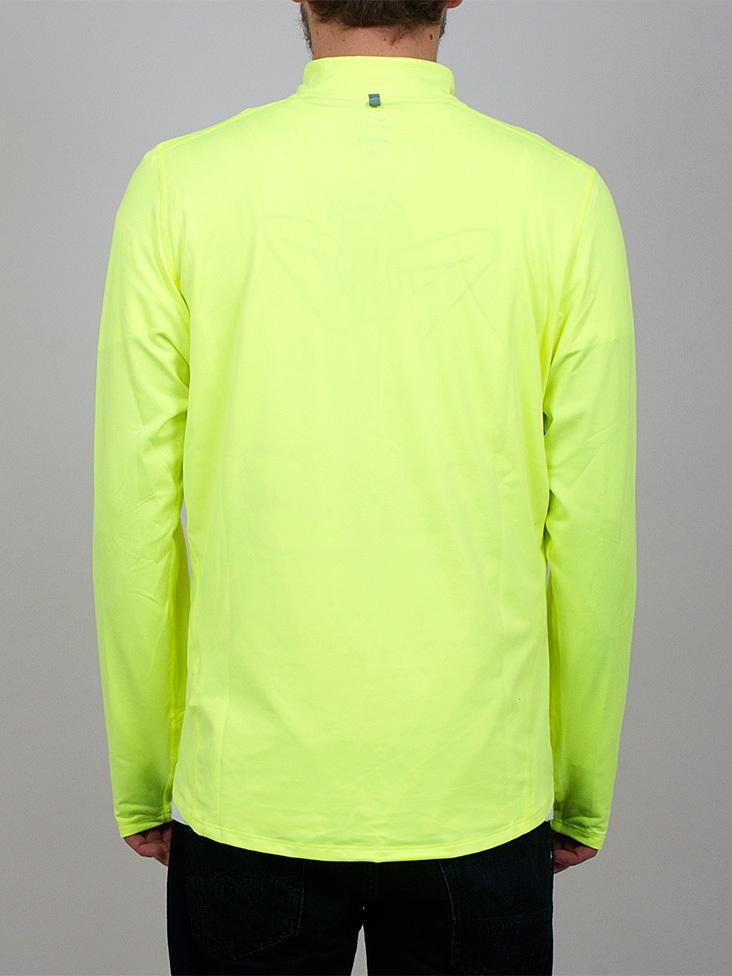 Футболка Nike Element 1/2 Zip LS /Рубашка беговая салатовая - 4