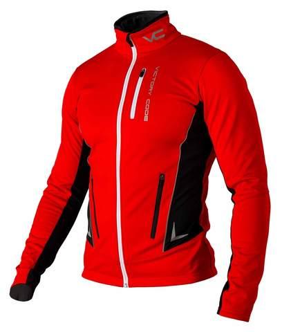 Victory Code Jr Speed Up разминочная лыжная куртка детская red