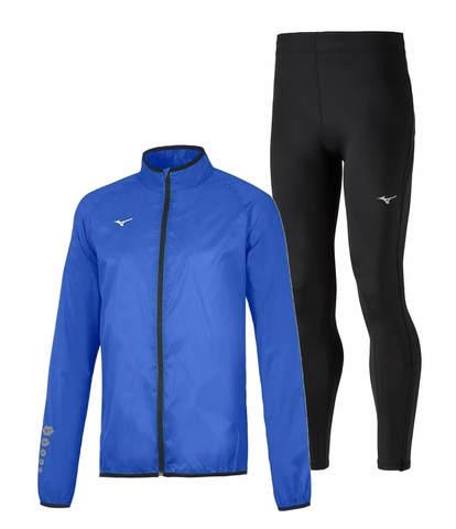 Mizuno Authentic Rain Impulse Core костюм для бега мужской синий-черный