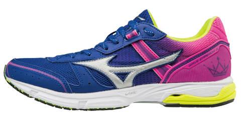 Mizuno Wave Emperor 3 женские кроссовки для бега синие-розовые