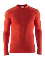Термобелье мужское Craft Warm Intensity рубашка оранжевая