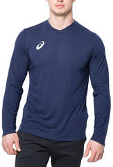 Asics Long Sleeve Tee мужская беговая рубашка синяя