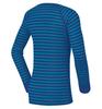 Odlo Warm детское термобелье рубашка синяя в полосу - 2