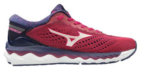Mizuno Wave Sky 3 кроссовки для бега женские красные-синие