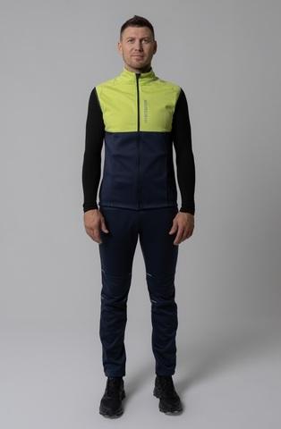 Nordski Premium лыжный жилет мужской green-blueberry