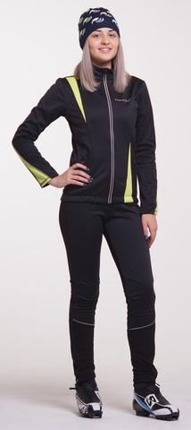 Nordski Active женский разминочный костюм черный-желтый