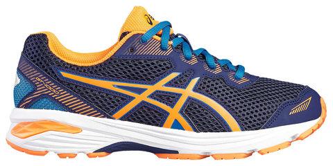 Asics Gt 1000 5 Gs беговые кроссовки подростковые синие-оранжевые