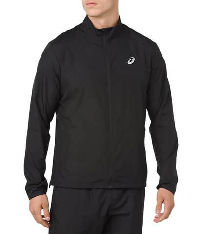 Asics Silver мужская ветрозащитная куртка черная