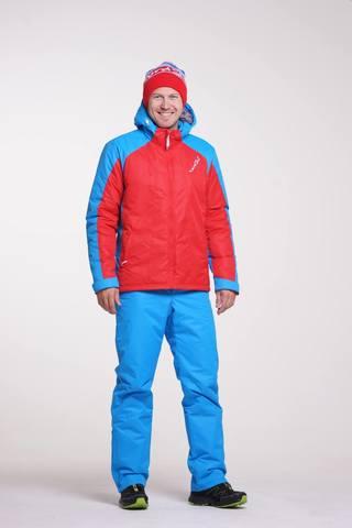 Nordski National мужской утепленный лыжный костюм красный