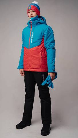 Nordski Jr Montana теплый лыжный костюм детский blue-red