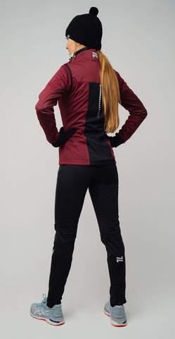 Nordski Pro разминочная куртка женская бордо