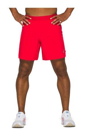 """Asics Road 2 In 1 7"""" Short шорты для бега мужские красные"""
