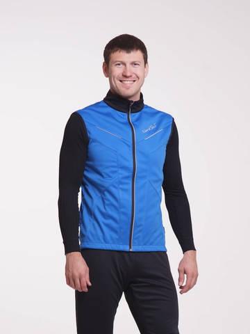 Nordski Premium мужской лыжный жилет синий